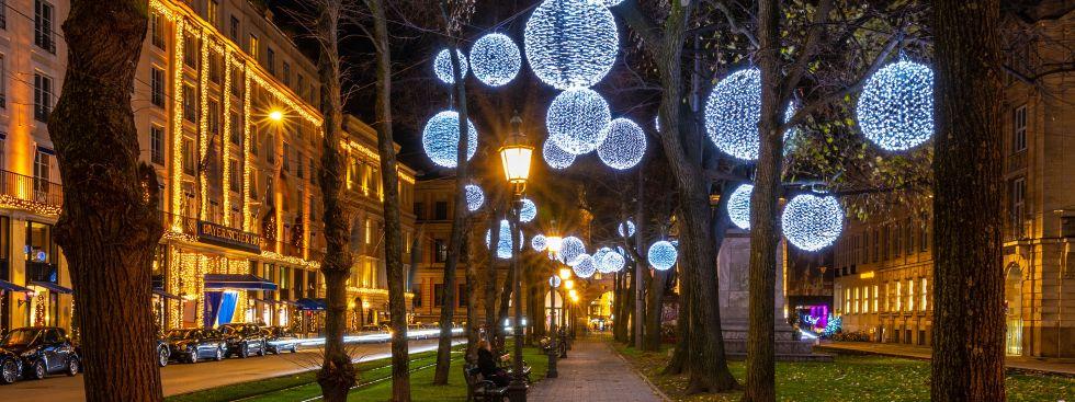 Lichterkugeln am Promenadeplatz 2018, Foto: muenchen.de/Michael Hofmann