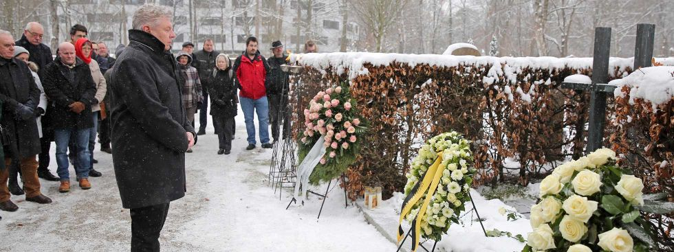 75. Todestag der Geschwister Scholl - Kranzniederlegung, Foto: Michael Nagy/Presseamt München