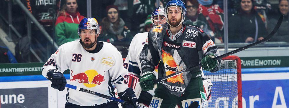 Spielszene im Match Augsburg gegen den EHC., Foto: Red Bull / Gepa Pictures