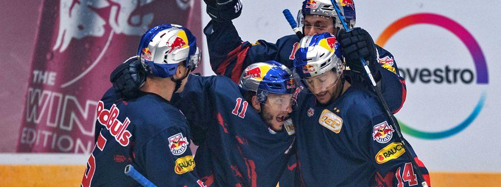 Jubel bei den Red Bulls im Spiel gegen Berlin., Foto: Red Bull / Gepa Pictures