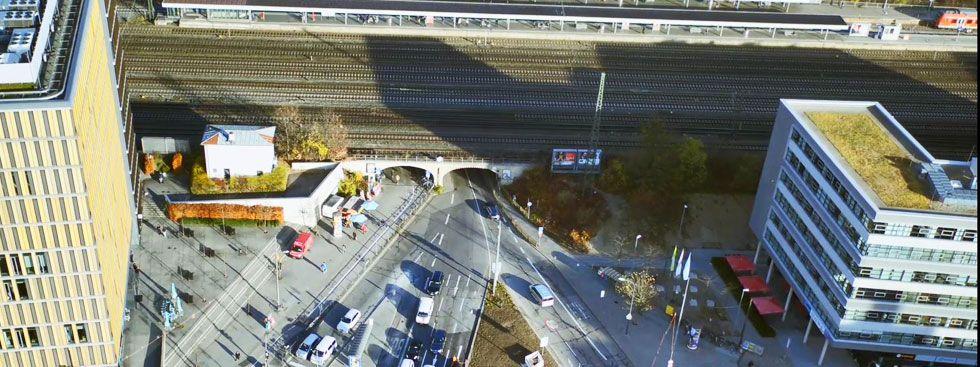 Die bestehende Laimer Unterführung, Foto: Deutsche Bahn AG / Fritz Stoiber Productions GmbH