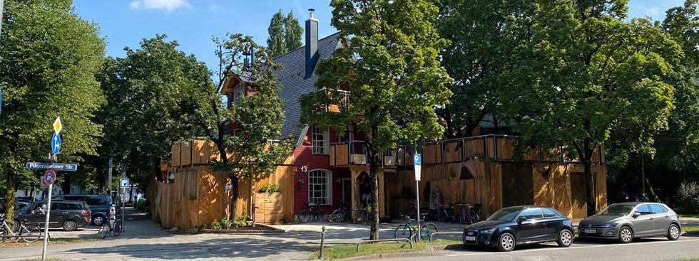 Das Kulturcafé Gans Woanders in der Pilgersheimer Straße, Foto: Gans Woanders