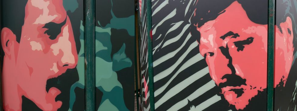 Graffiti von Freddy Mercury und Rainer Werner Fassbinder, Foto: Marie-Lyce Plaschka