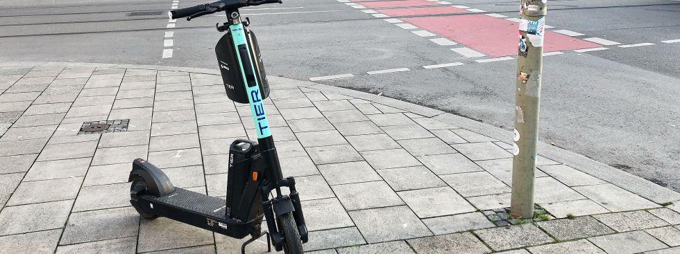E-Scooter MVG Tier, Foto: muenchen.de/Julie Teicke