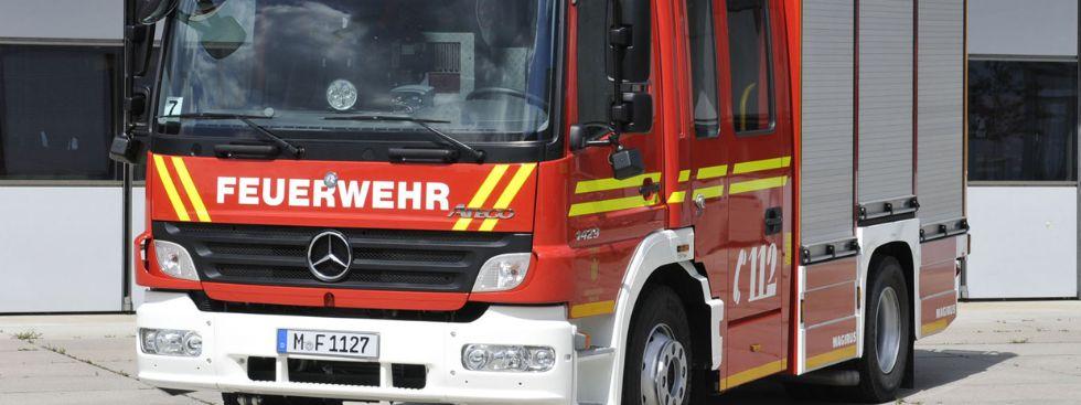 Einsatzwagen der Feuerwehr München, Foto: Branddirektion München