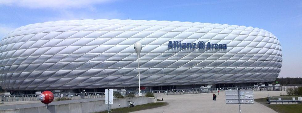 Die Allianz Arena ohne Beleuchtung, Foto: muenchen.de/Mark Read