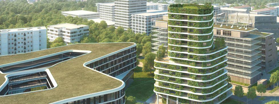 Das geplante Wohnhochhaus an der Arabellastraße 26, Foto: Aika Schluchtmann Architekten