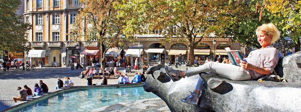 Sonniges Herbstwetter am Rindermarkt, Foto: muenchen.de/Leonie Liebich