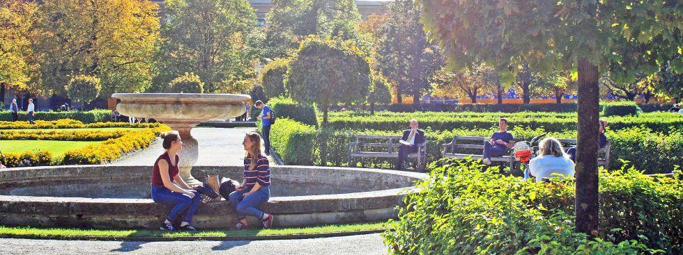 Hofgarten im Herbst, Foto: muenchen.de/Leonie Liebich
