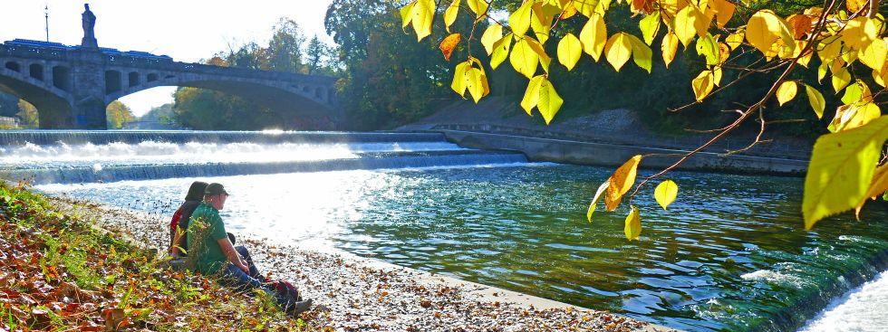 Isar im Herbst, Foto: muenchen.de/Leonie Liebich