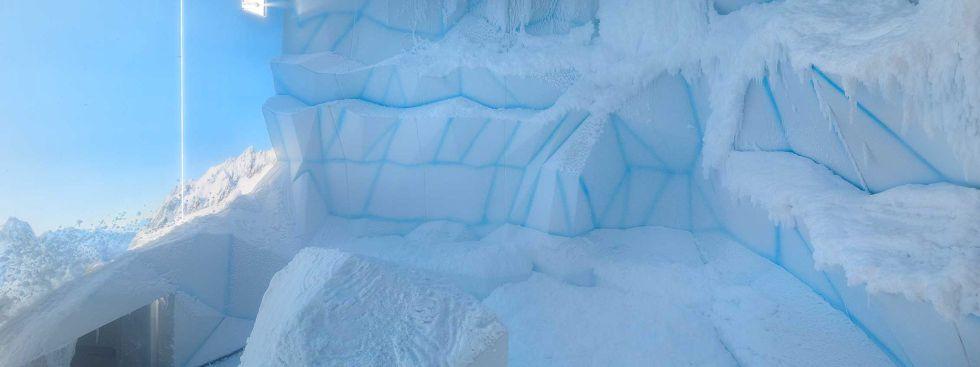 Die Schneekabine in der Sauna der Olympia-Schwimmhalle, Foto: SWM/Oliver Jung