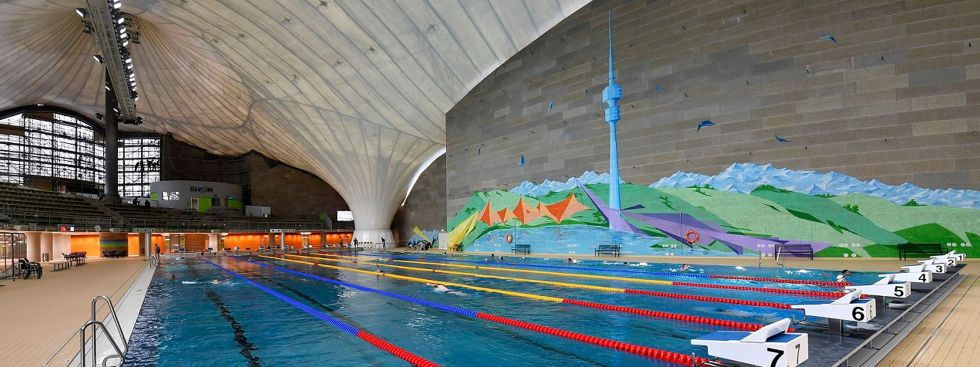 Die neu sanierte Olympia-Schwimmhalle, Foto: SWM