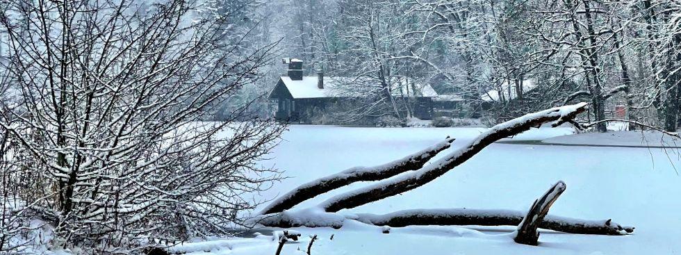 Hinterbrühl im Schneegestöber - Winter in Thalkirchen, Foto: Gunnar Jans