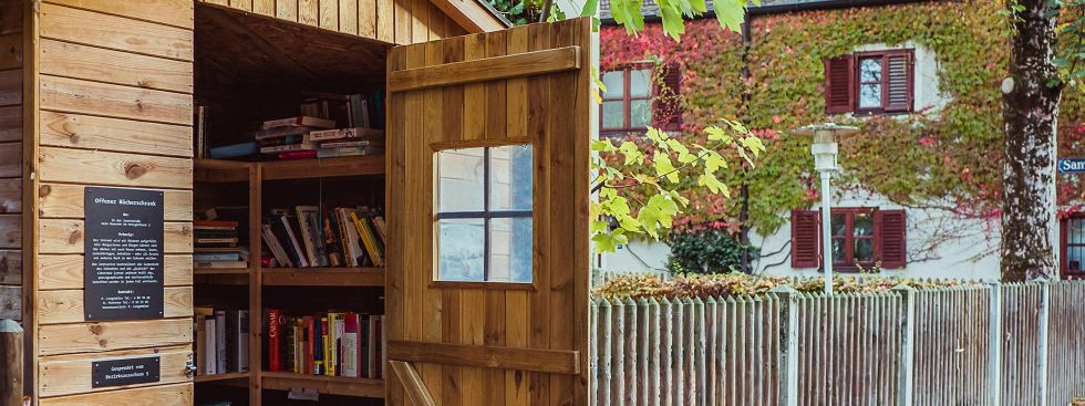 Öffentlicher Bücherschrank in der Au (Am Herrgottseck), Foto: Anette Göttlicher