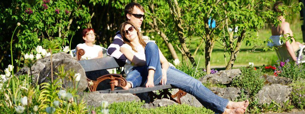 Relaxen im Rosengarten., Foto: muenchen.de/Vauelle