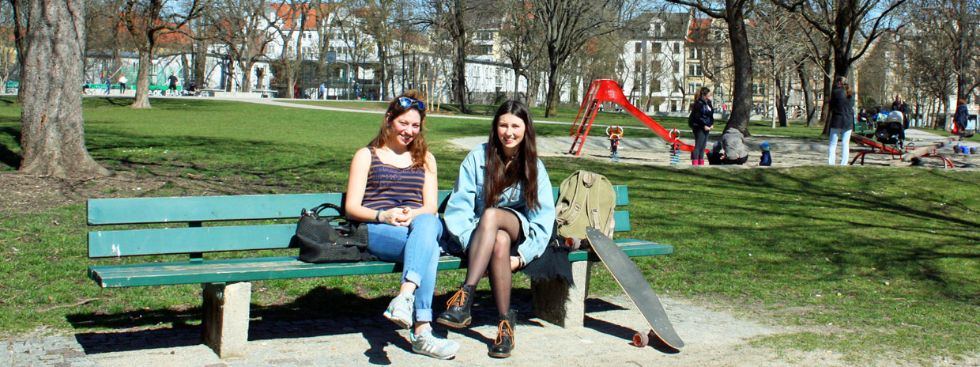 Besondere Orte zum Sonnen in München: Massmannpark, Foto: Leonie Liebich
