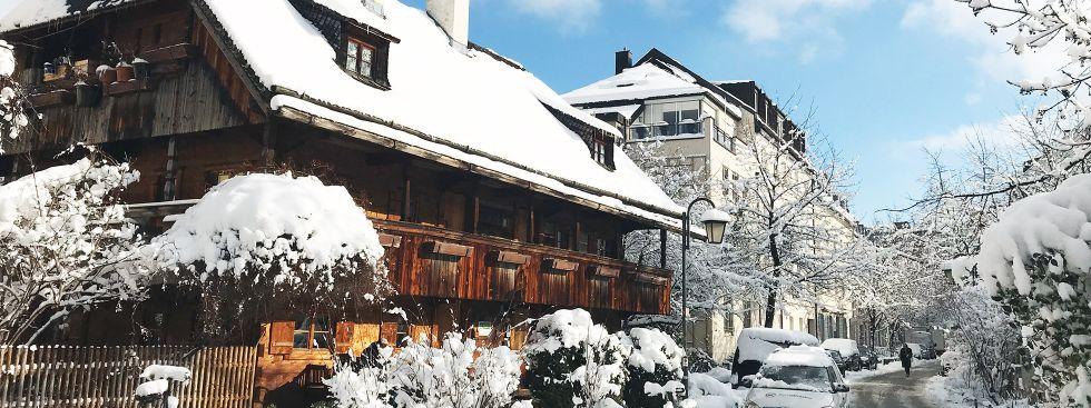 Die Preysingstraße mit dem Kriechbaumhof in Haidhausen, Foto: Anette Göttlicher