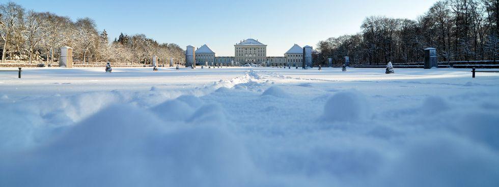 Schloss Nymphenburg im Winter, Foto: Anette Göttlicher