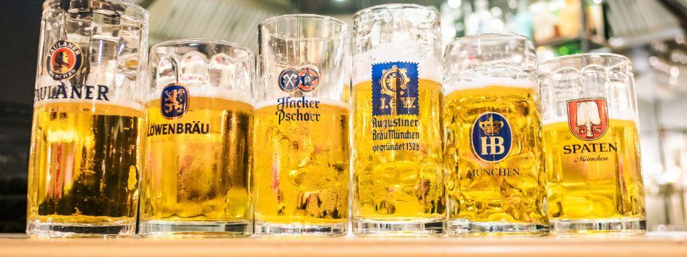 Die Wiesnbiere der sechs Münchner Brauereien bei der Bierprobe 2019, Foto: Anette Göttlicher