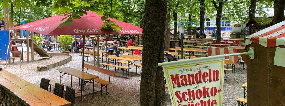 Der Biergarten vom Hofbräukeller am Wiener Platz, Foto: Anette Göttlicher