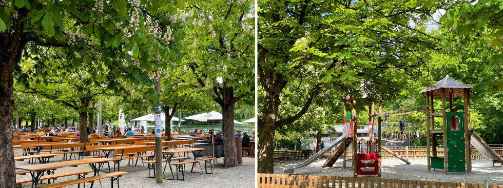 Der Michaeligarten (Biergarten) im Münchner Ostpark, Foto: muenchen.de / Patrick Mayr