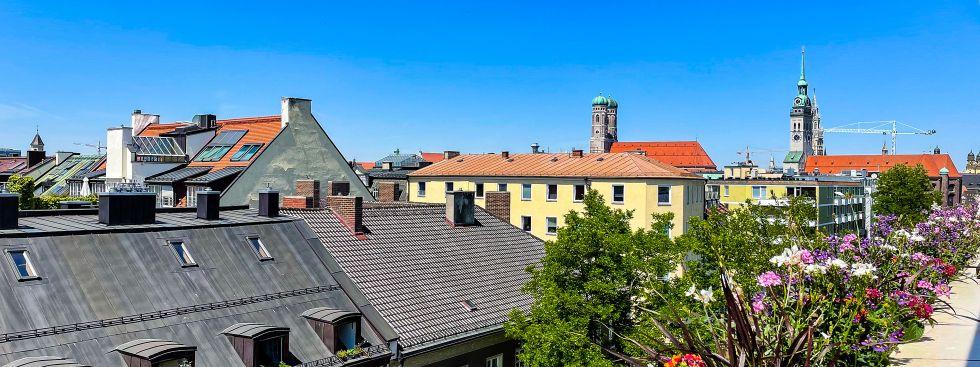 Aussicht von der Dachterrasse der Deutschen Eiche, Foto: Patrick Mayr