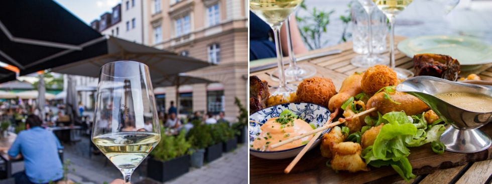 Bars zum draußen sitzen: Weinbistro Hoiz, Foto: Markus Büttner