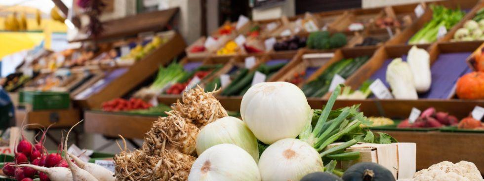 Gemüse auf einem Münchner Markt, Foto: Photopraline