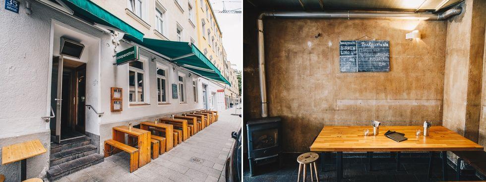 Restaurant Cooperativa von außen und innen, Foto: Lionman