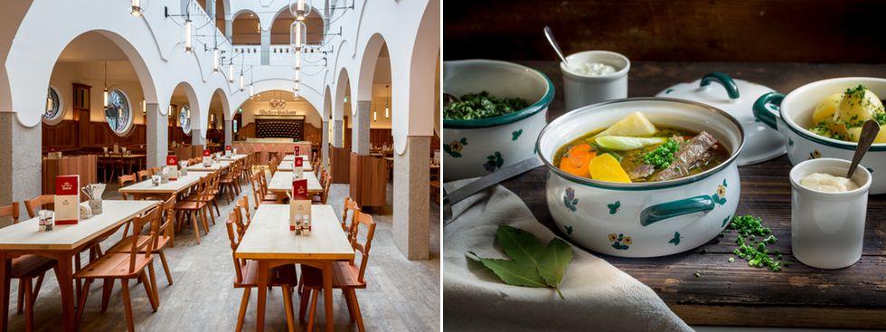 Restaurant Donisl von innen, Suppe, Foto: Donisl