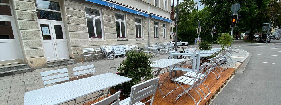 Schanigarten des Paros in Haidhausen, Foto: Anette Göttlicher