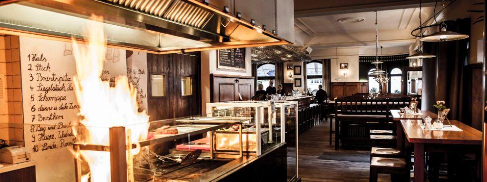 Restaurant Kapitales vom Rind von außen und innen, Foto: SHP Sebastian Hinklein Photography
