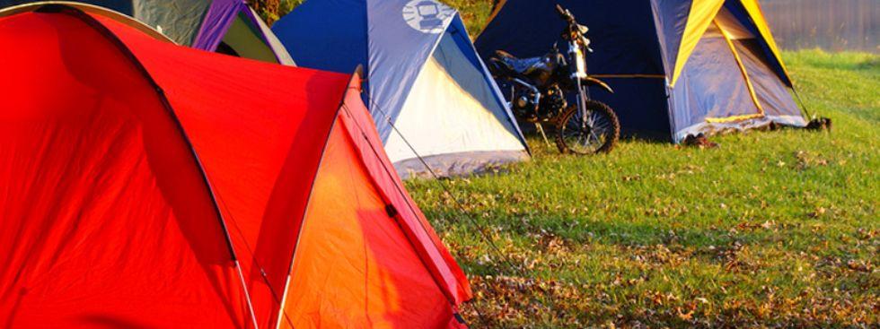 Zelte im Grünen