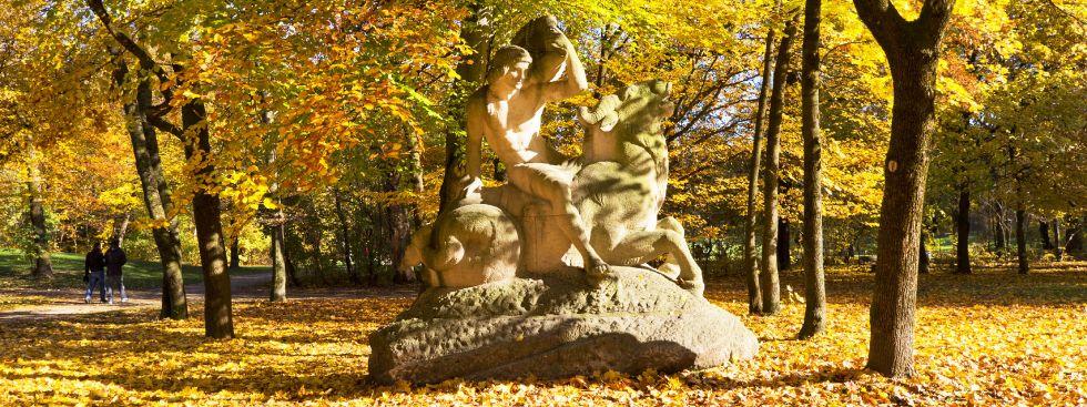 Der Bavariapark im Herbst, Foto: muenchen.de / Katy Spichal