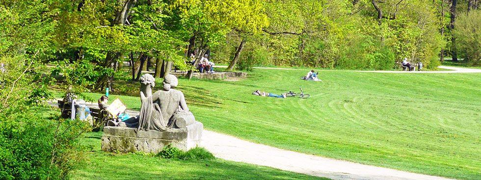 Der Bavariapark im Sommer, Foto: Baureferat München / Gartenbau
