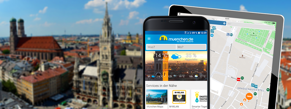 Munich SmartCity App for iPhone, iPad and Android on