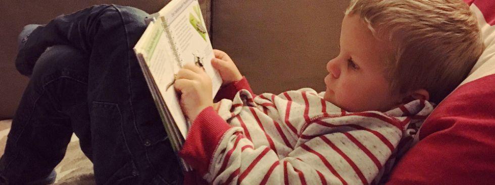 Lesender Bub, Foto: Anette Göttlicher