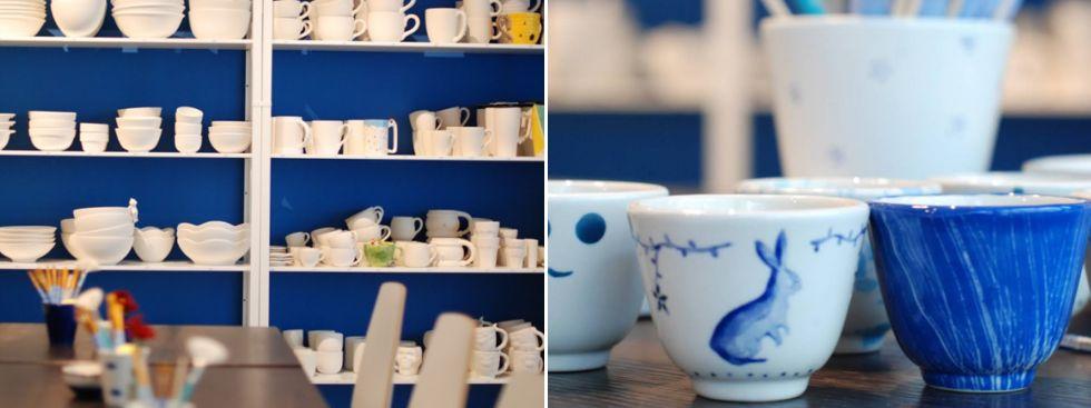 Keramik bemalen: Dipinto di blu, Foto: Dipinto di blu