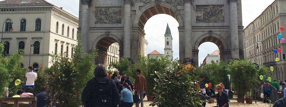 Blick zur Ludwigstrasse mit Siegestor, Foto: Anette Göttlicher