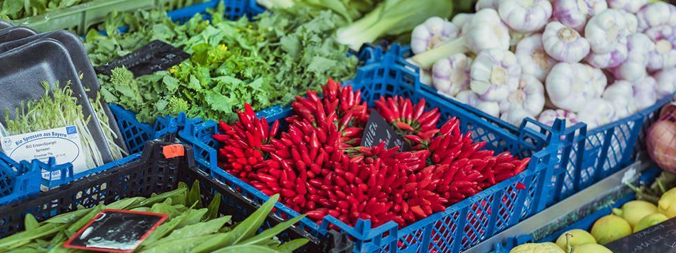 Gemüse am Wochenmarkt, Foto: Anette Göttlicher
