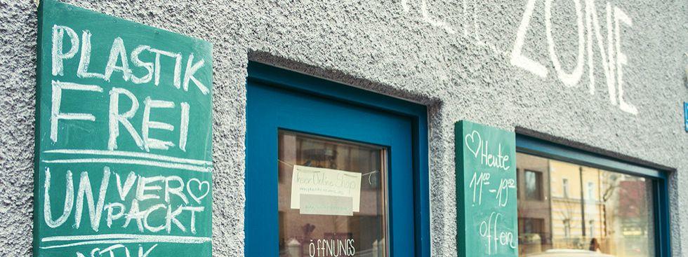 """Der """"Plastikfreie Laden"""" in Haidhausen, Foto: Anette Göttlicher"""