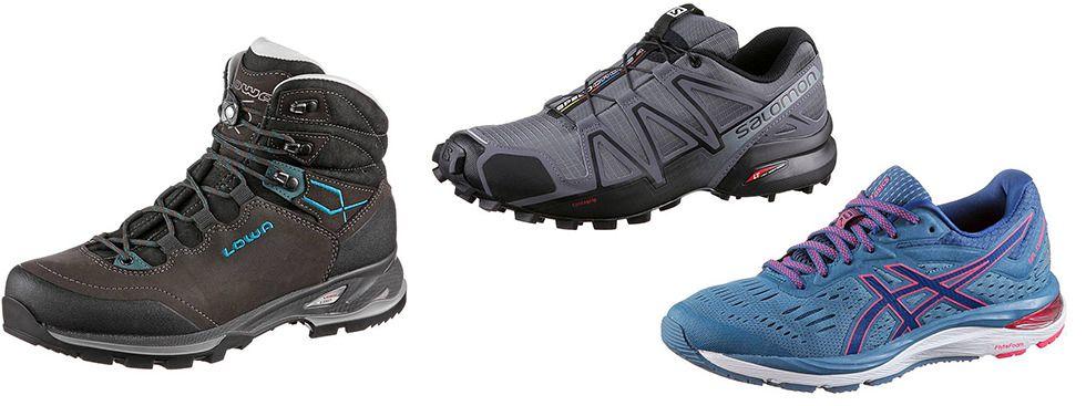 Extremwandern: Schuhe, Foto: Iowa, Salomon, Asics
