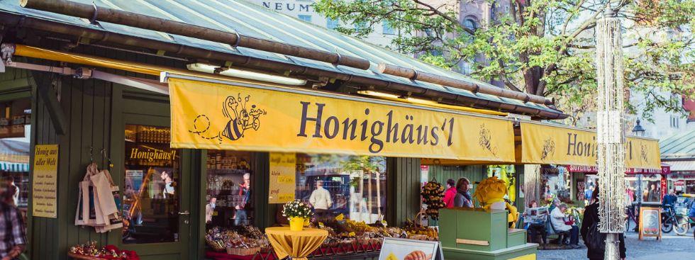 Klassiker auf dem Viktualienmarkt: das Honighäusl, Foto: Anette Göttlicher