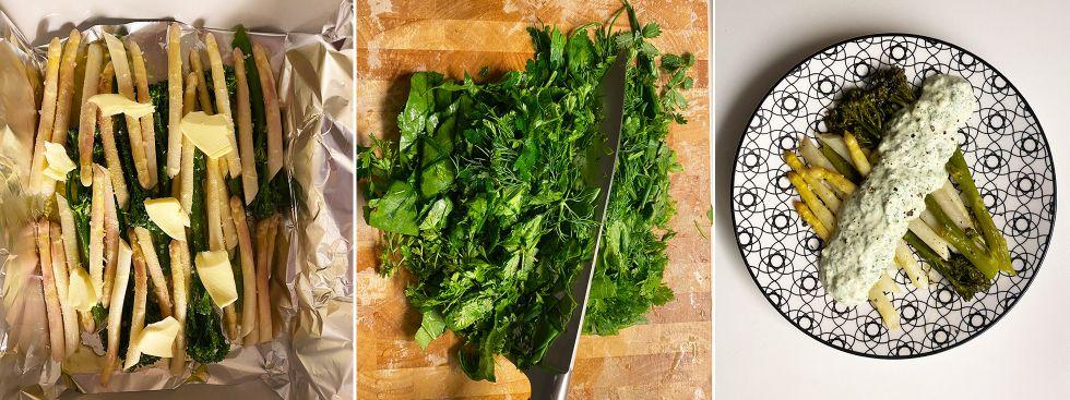 Spargel mit Grüner Sauce: Das Rezept vom Elisabethmarkt, Foto: Anette Göttlicher