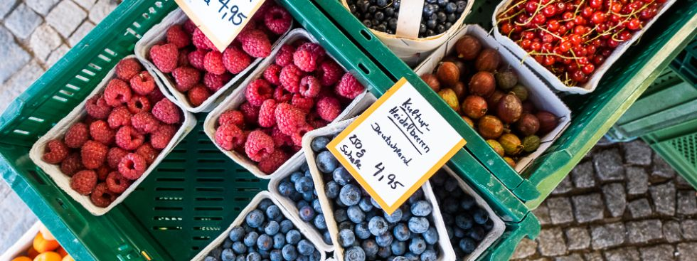 Beeren vom Pasinger Viktualienmarkt, Foto: Anette Göttlicher