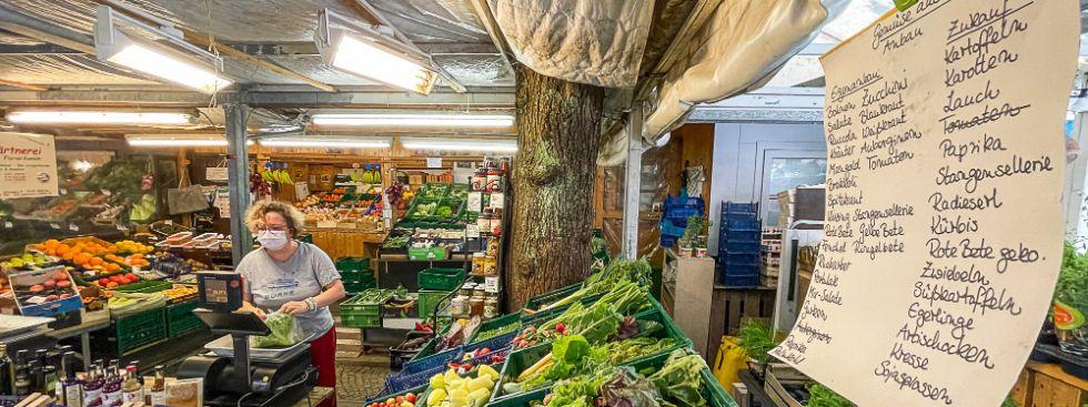 Gemüse aus Eigenanbau vom Pasinger Viktualienmarkt, Foto: Anette Göttlicher