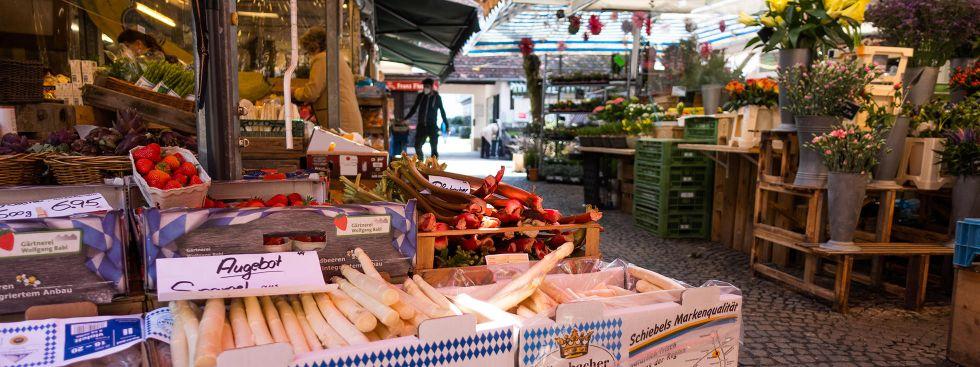 Der Pasinger Viktualienmarkt, Foto: Anette Göttlicher