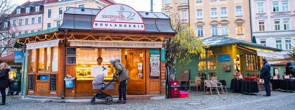 Der Wienermarkt mit Margot's Boulangerie, Foto: Anette Göttlicher