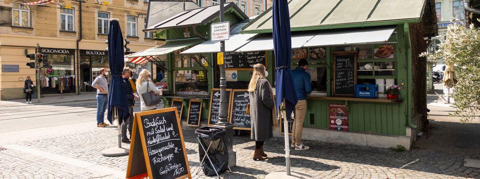 Das Fischhäusl auf dem Wienermarkt, Foto: Anette Göttlicher