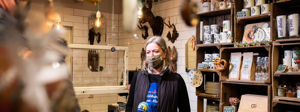 Mitbringsel vom Markt mit Inhaberin Babette Mack, Foto: Anette Göttlicher